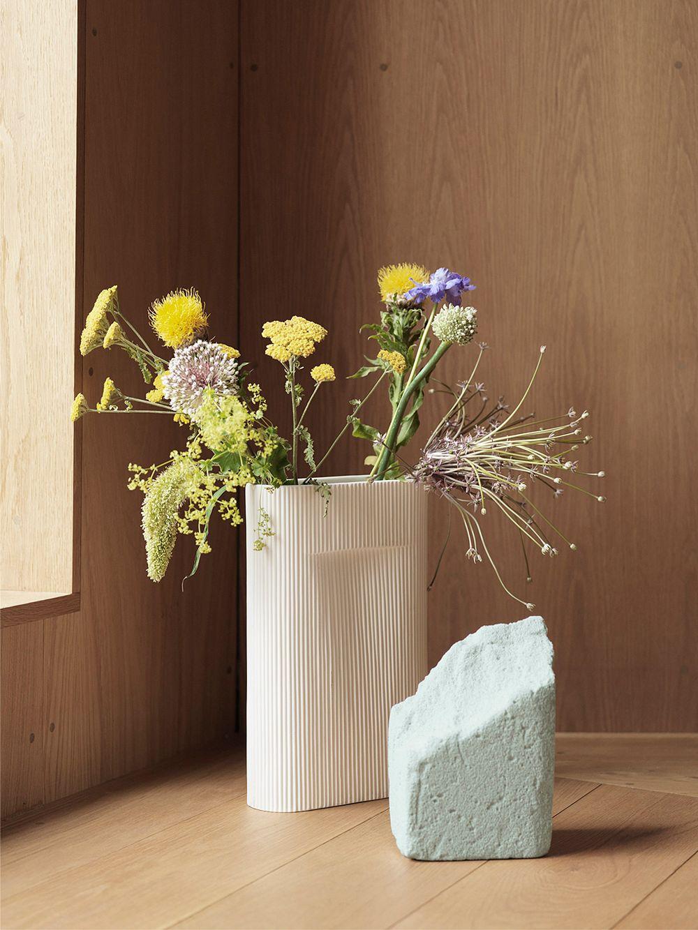Muuto's Ridge vase, off-white