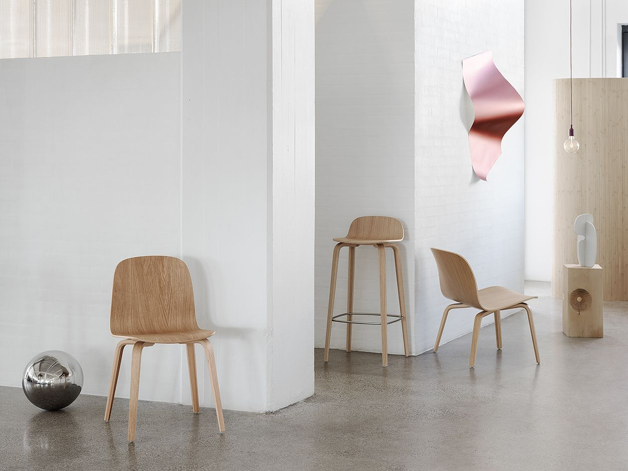 Muuto Visu lounge chair, natural oak