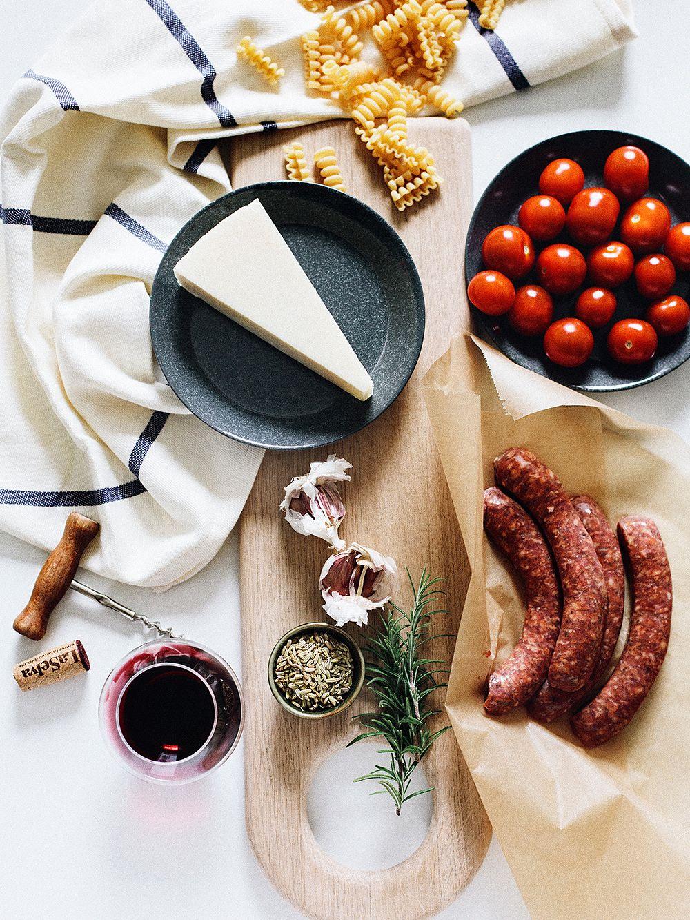 Delicious sausage pasta