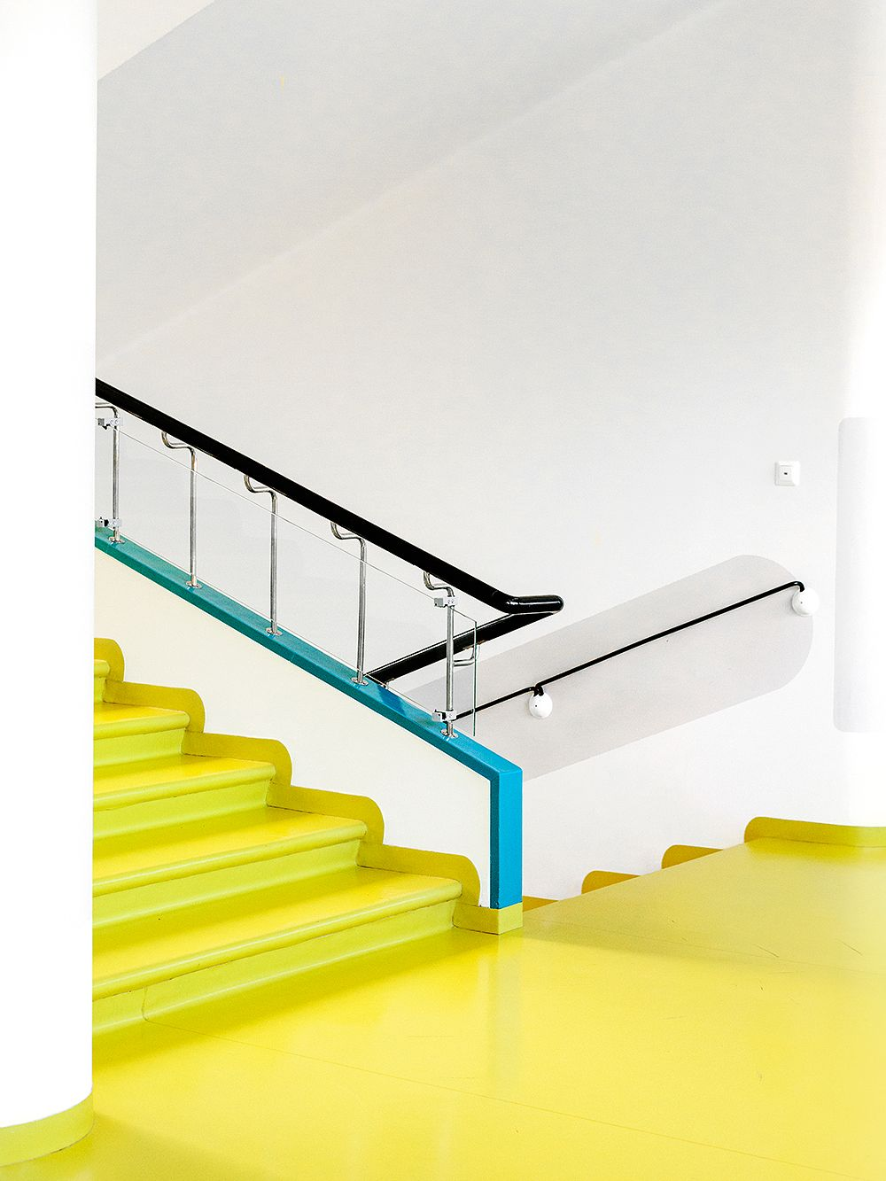 The yellow staircase of the Paimio Sanatorium