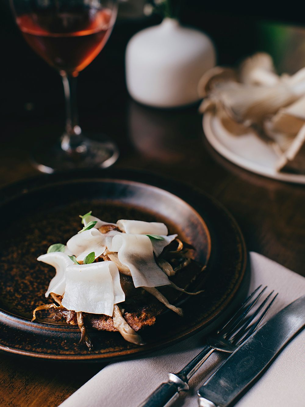Nolla's crispy mushroom waffle