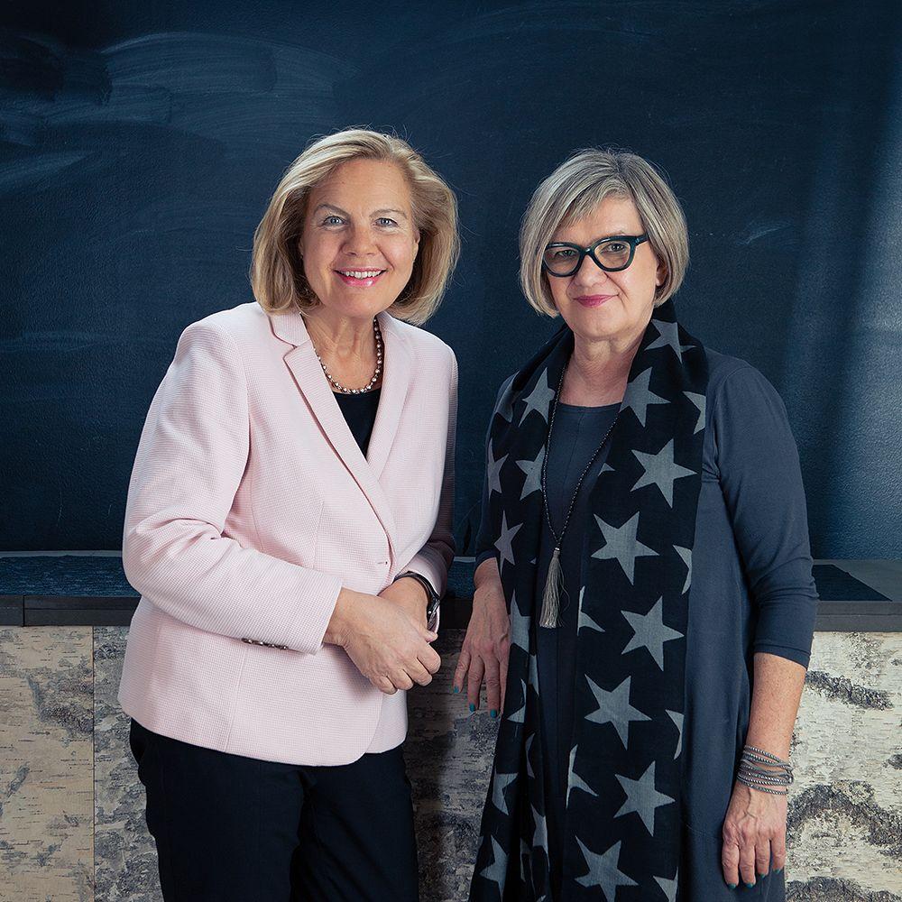 Showroom Finland's Tuula Hocksell and Leena Liedenpohja