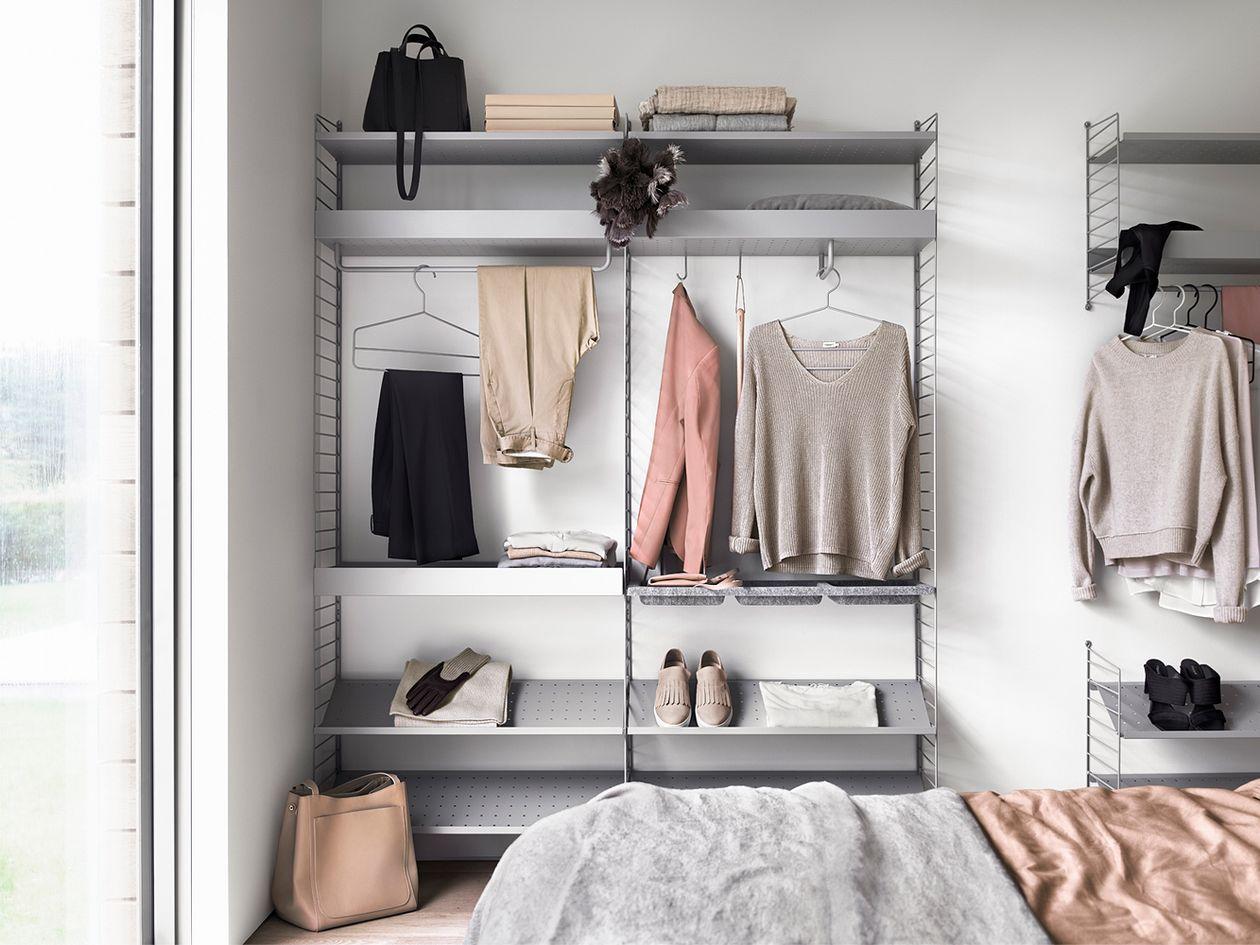 String System shelves in gray