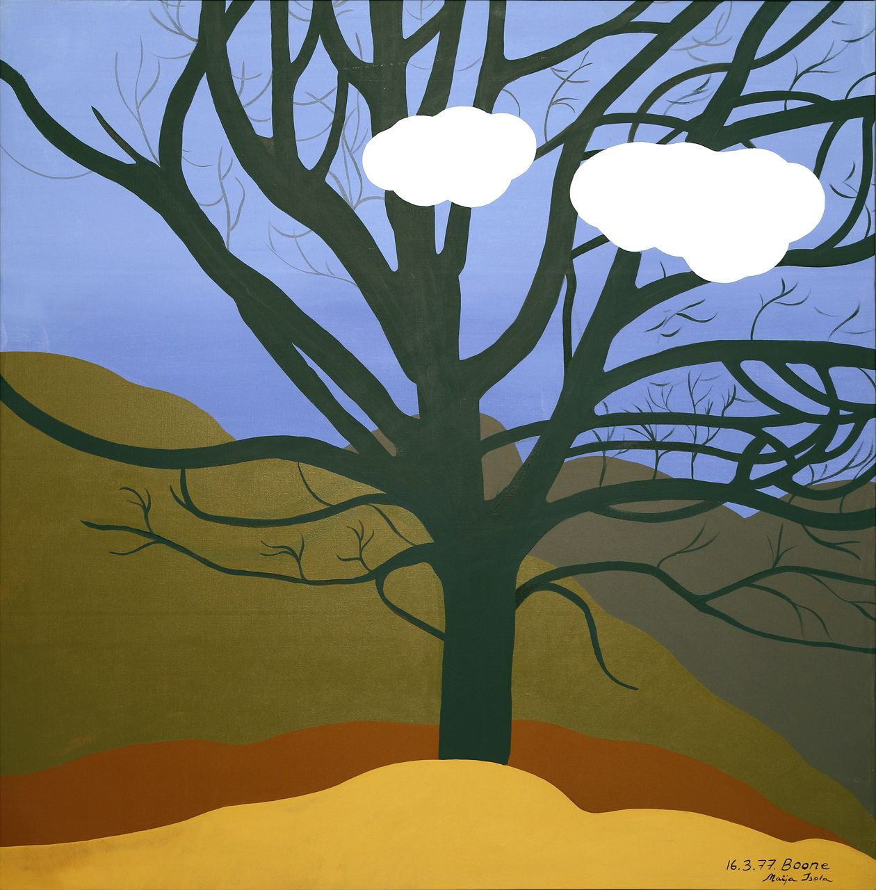 Maija Isola: Oak Tree and Clouds