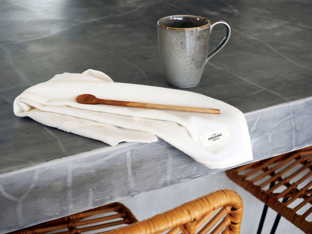 Organic Company's white cloth napkin.