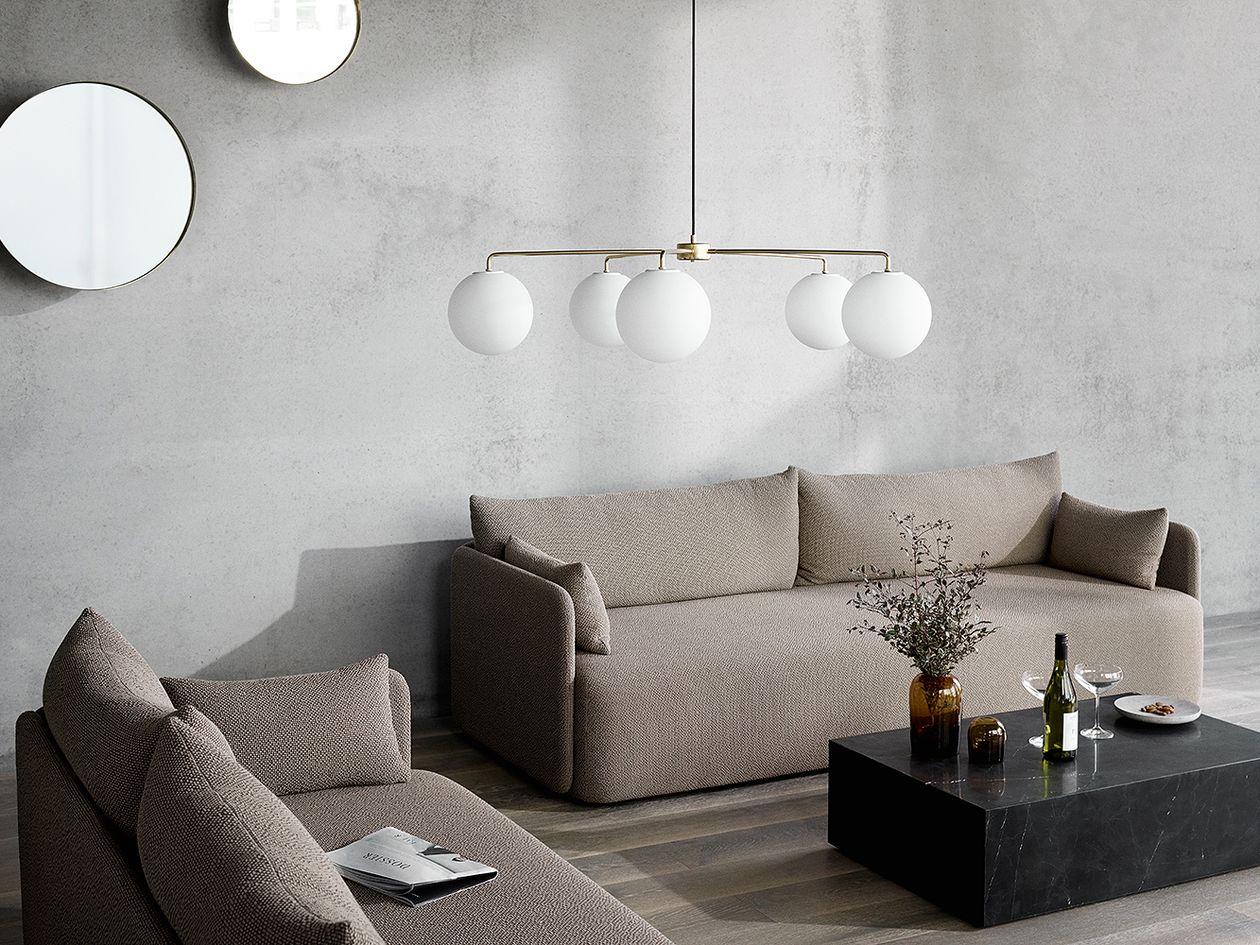 Menu's TR Bulbs and Tribeca Chambers chandelier