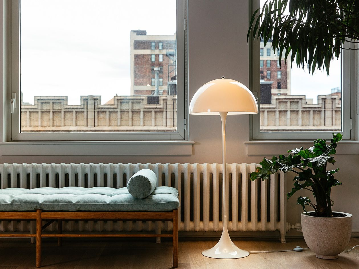 Panthella floor lamp by Verner Panton