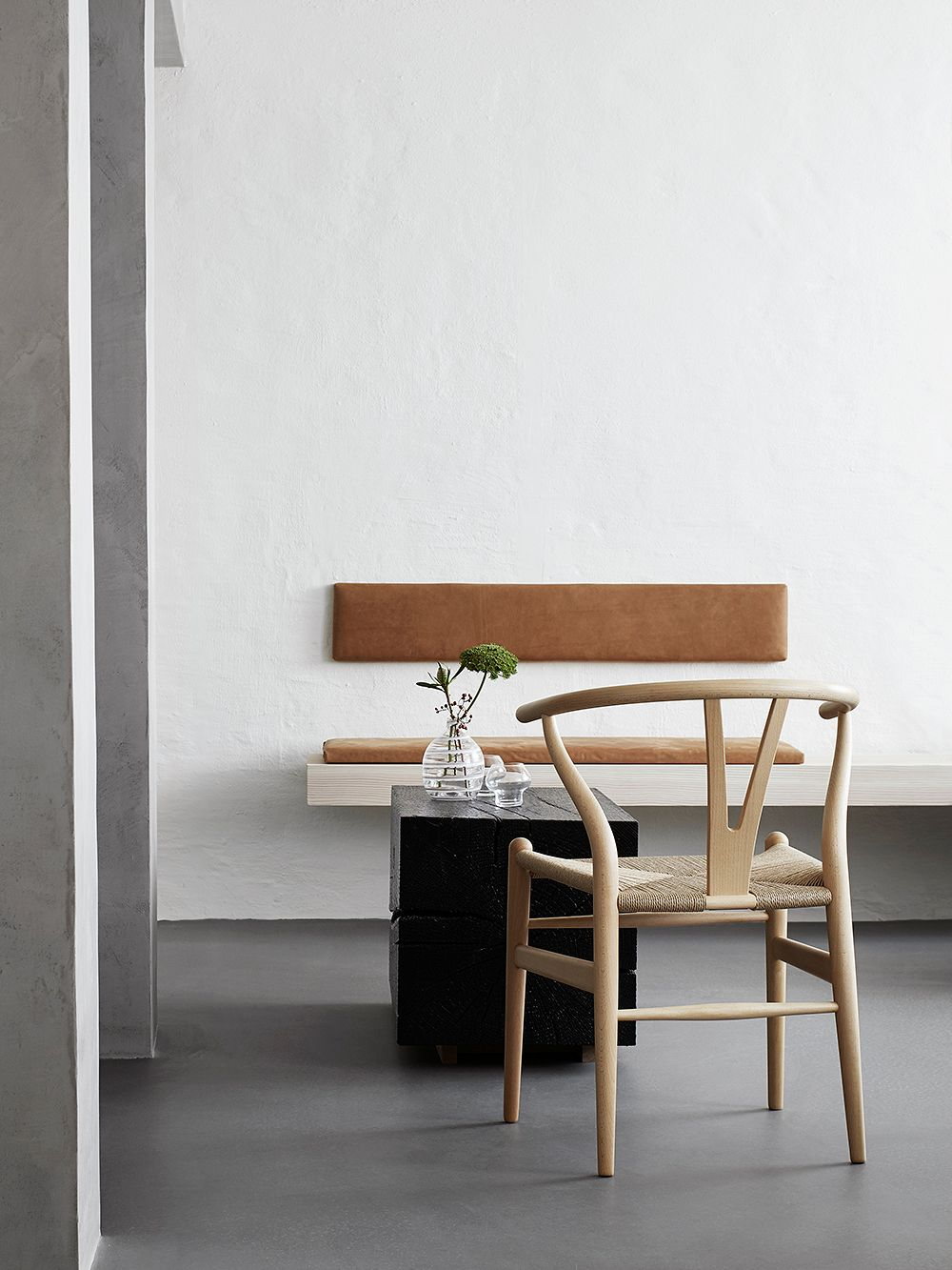 Carl Hansen & Søn CH24 Wishbone chair, soaped beech - natural cord