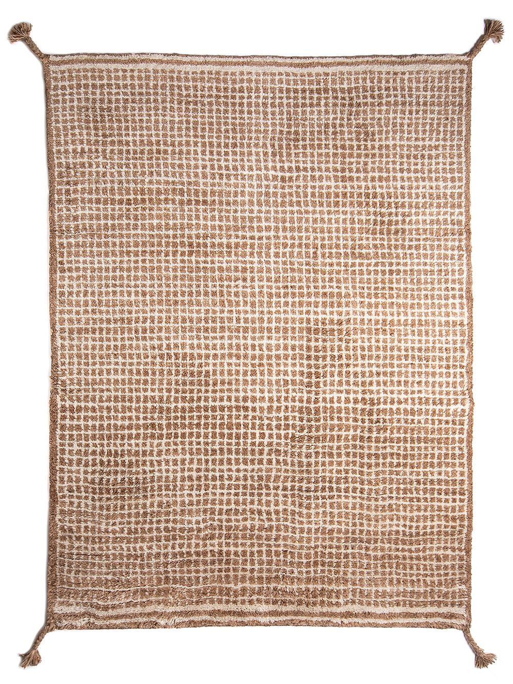 Woodnotes Grid rug, white and camel