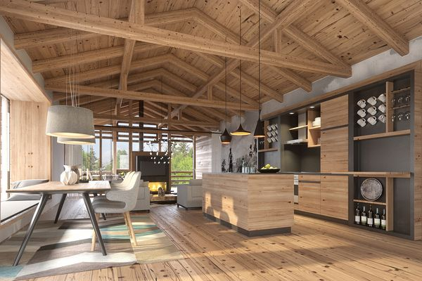 Park Allgäu Exclusive Cottage Kitchen