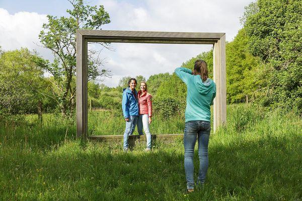 Fotomoment landschapskader