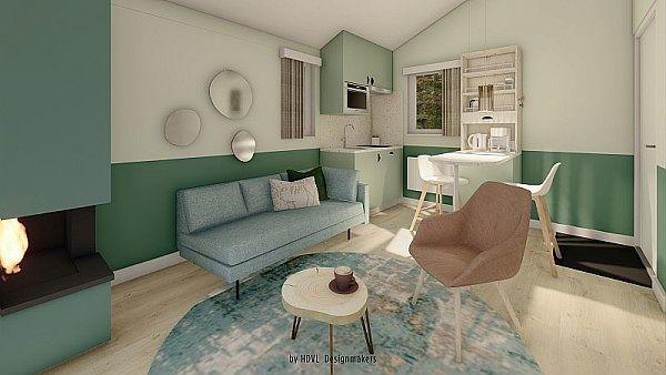 Renewed cottage living room