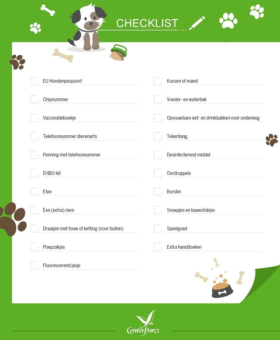 Checklist vakantie met je hond