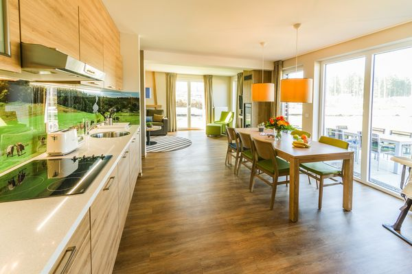De eerste foto's: Premium cottages in Park Allgäu