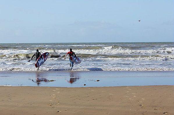 Surfen in de Noordzee