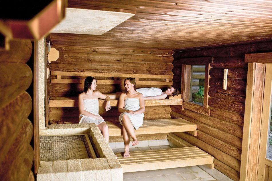 sauna op vakantie