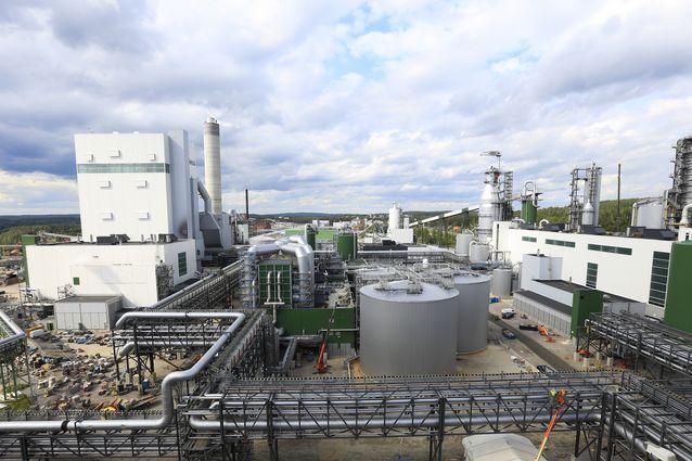 Metsä Groupin biotuotetehdas elokuussa 2017. Kuva: Metsä Group