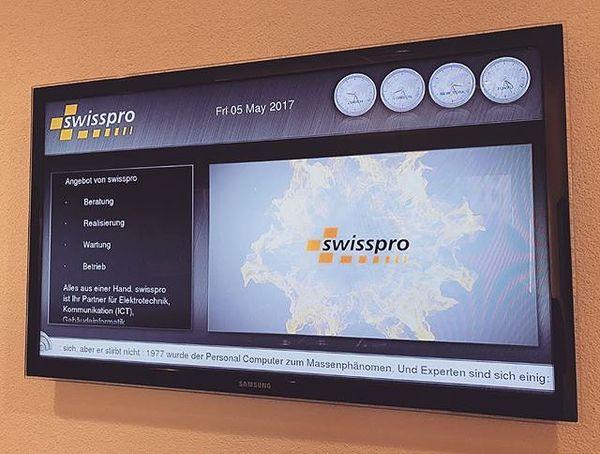 Digital Signage by #swisspro #bewirbdichjetzt