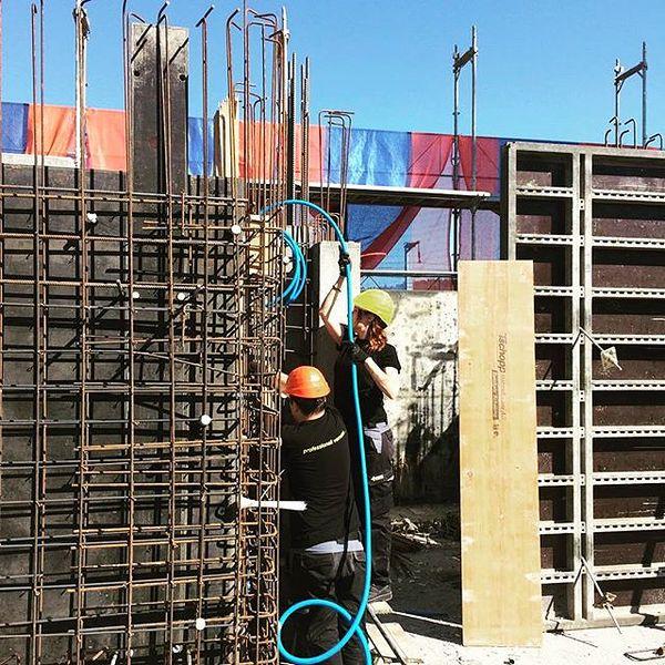 At work auf der Baustelle #swisspro #bewirbdichjetzt