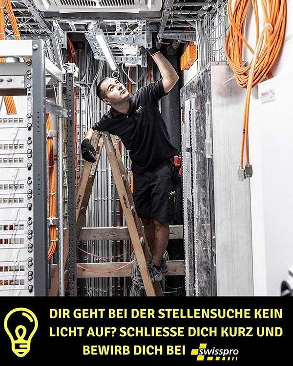 Wir suchen dich!#swisspro#swissprogroup#bewirbdichjetzt#Elektroinstallationen#ICT#BCT#Urdorf#Zurich#Switzerland#18Standorte#joinourteam
