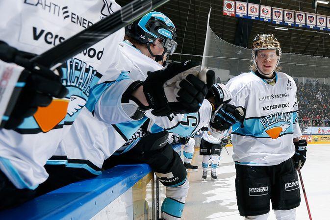 Vili Sopanen oli Pelicansin tehomies kahdella maalillaan. Kuva: Jukka Rautio / Europhoto