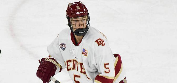 Henrik Borgström on yksi yliopistosarja NCAA:n tähtipelaajia. Kuva: University of Denver