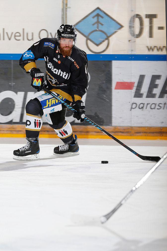 Jari Sailio pelaa SM-liigassa jo kahdettatoista kauttaan. Kuva: Jukka Rautio / Europhoto