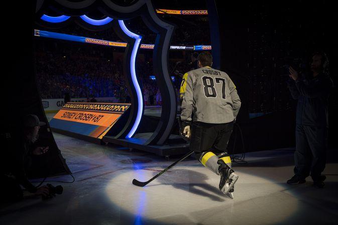 Sidney Crosby tähdistöottelutapahtumassa Tampassa.