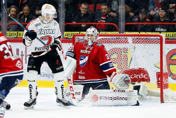 Kevin Lankinen nousi kauden aikana HIFK:n ykkösvahdiksi. Kuva: Jukka Rautio / Europhoto