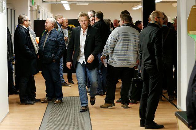 Petri Hietanen asteli median eteen määrätietoisesti. Kuva: Jukka Rautio / Europhoto