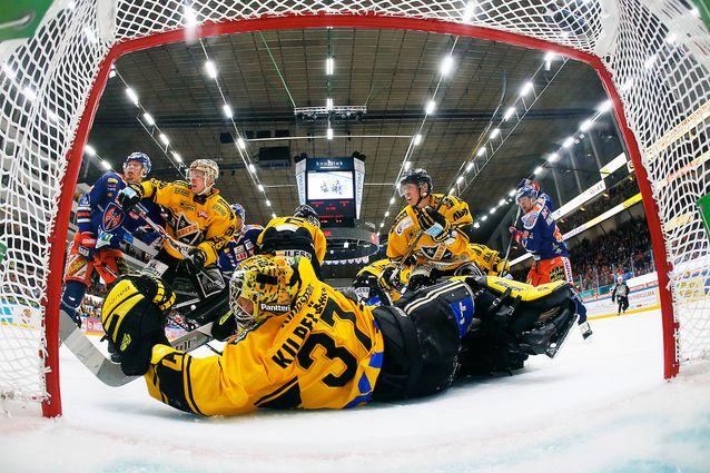 Eero Kilpeläinen venyi ensimmäisessä finaalissa kiekon tielle 30 kertaa. Kuva: Jukka Rautio / Europhoto