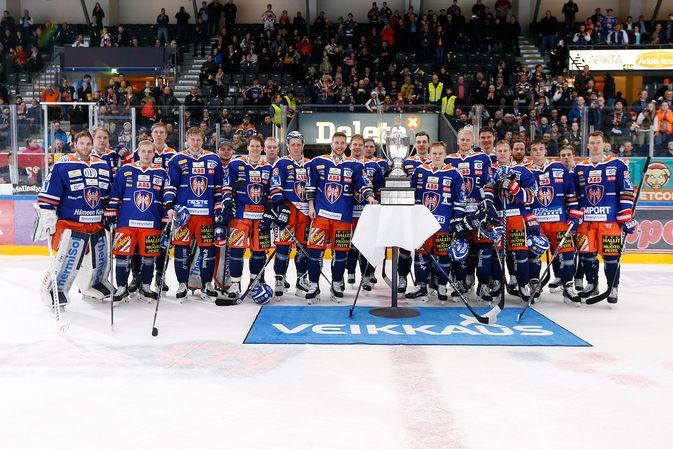 Runkosarjan voittajana on hyvä lähteä kevään tosipeleihin. Kuva: Jukka Rautio / Europhoto