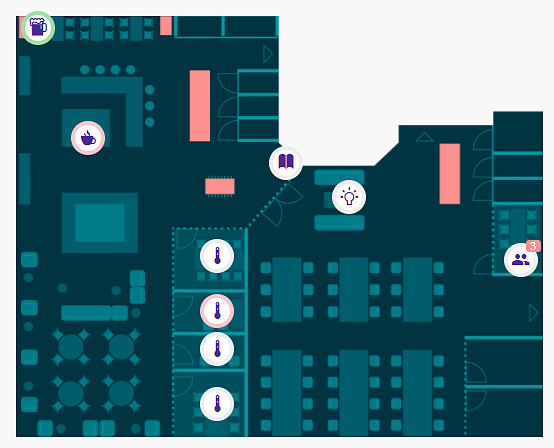 Greetings from our smart office trenches futurice for Interactive office floor plan