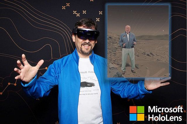 Wlaking on Mars with HoloLens