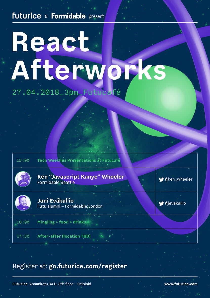 React Afterworks poster