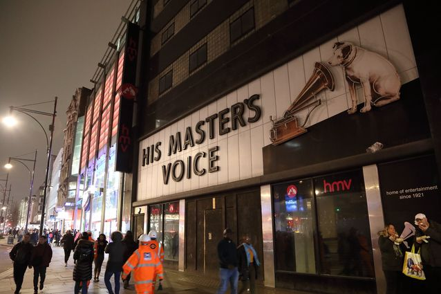 Digitalisation has vaporised the sound media to the cloud - His Master's Voice cannot be heard anymore on Oxford Street.