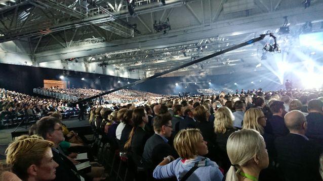 Esityksiä seurasi 7 500 henkeä Messukeskuksessa ja lähemmäs 20 000 webinaariyhteyden kautta.