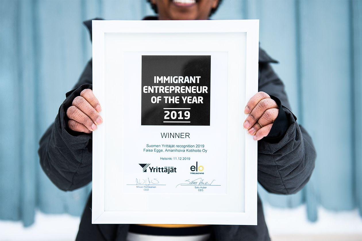 Vuoden maahanmuuttajayrittäjä -palkinto
