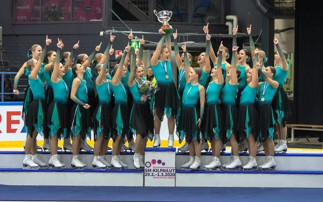 Team Fintastic muodostelmaluistelun Suomen mestarit 2020! #mlsm2020 #teamfintastic