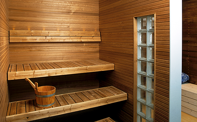 KollanPojat saunarakentaminen, Kuva: Puuinfo Oy