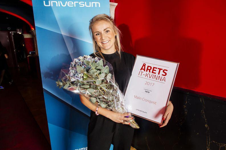Malin Cronqvist vinnare Årets IT-Kvinna 2017
