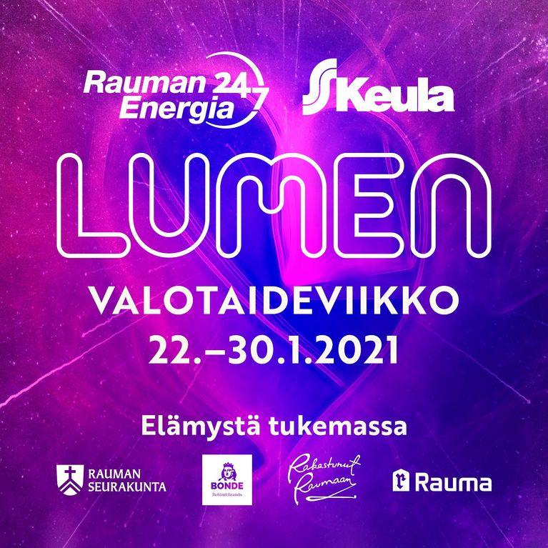 LUMEN valotaideviikko Raumalla 22.-30.1.2021