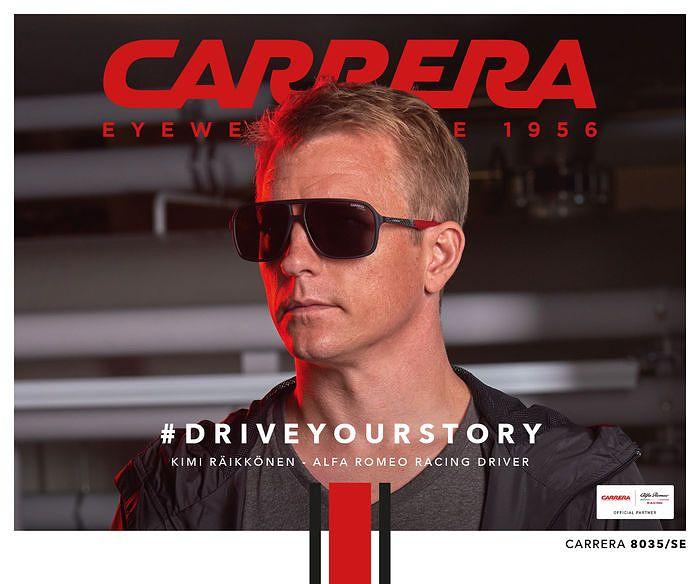 Carrera on solminut Alfa Romeo Racinginkanssa yhteistyön, jonka mainoskasvona on Kimi Räikkönen.