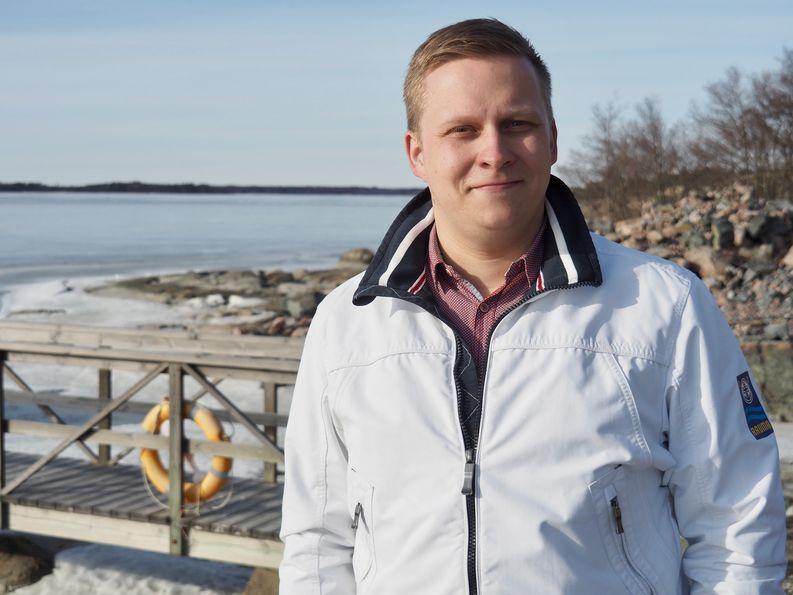 Logistikas Oy:n myyntipäällikkö Markus Viitanen
