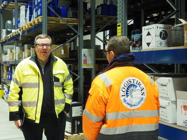 DNV GL:n Kimmo Haarala vierailulla Logistikas Oy:ssä