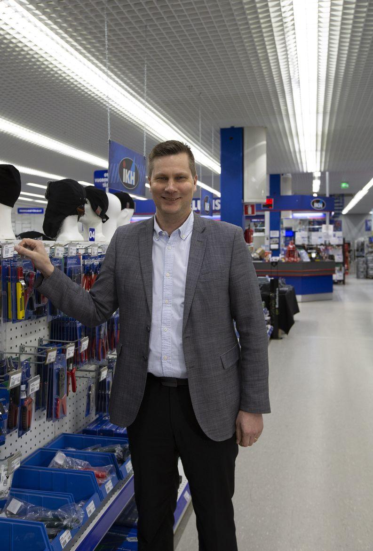 Isojoen Konehalli Oy:n toimitusjohtaja Tuomas Hilakari
