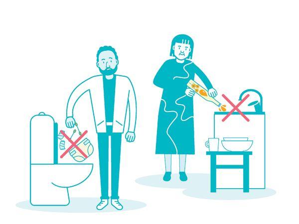 No fat or trash down the drain | SATO