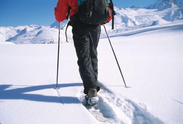 Une personne qui fait de la randonnée à Val Thorens