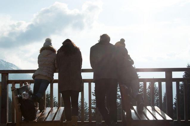 Une famille à la montagne