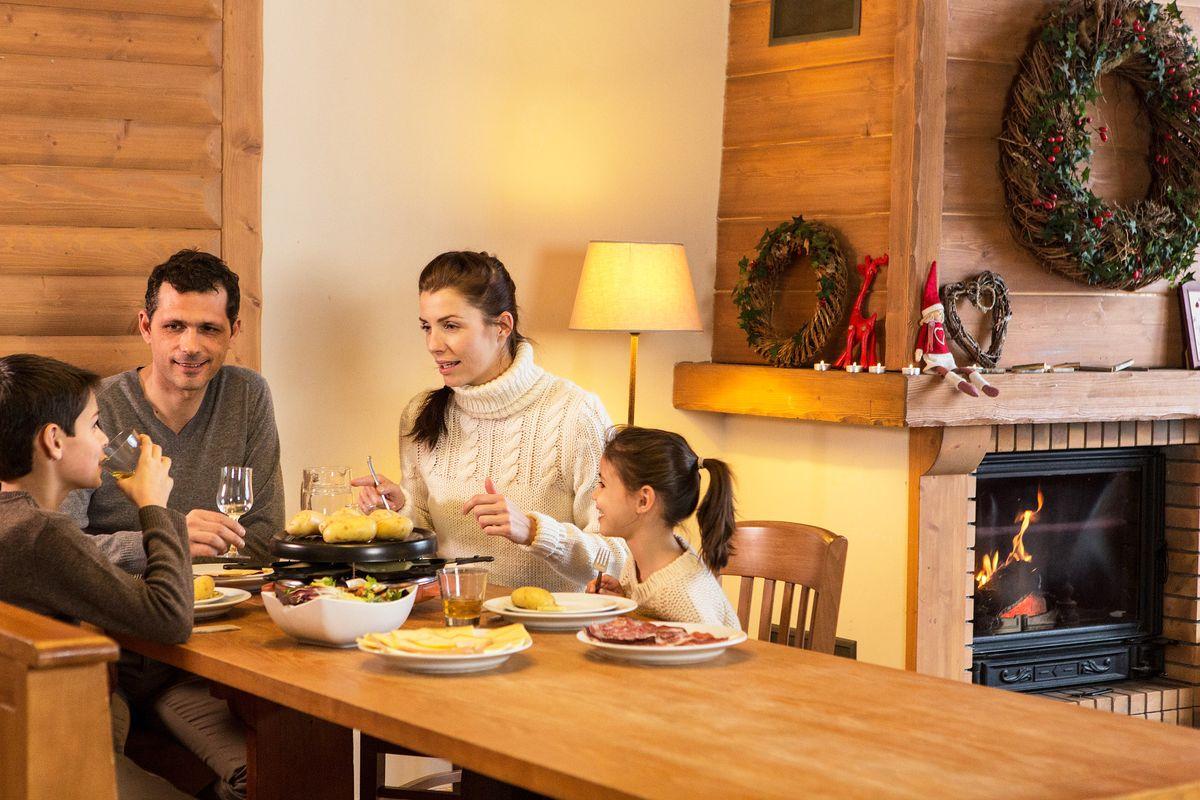 Raclette en famille